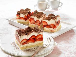 Erdbeer-Crème fraîche-Schnitten Rezept