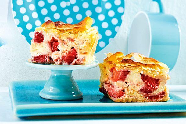 Erdbeer-Käsekuchen-Baklava Rezept