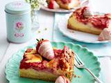 Erdbeer-Käsekuchen-Schnitten Rezept