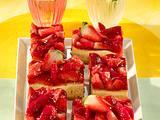 Erdbeer-Käsekuchen vom Blech Rezept