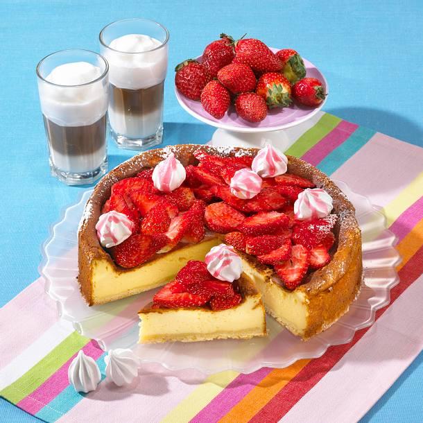 Erdbeer-Mascarpone-Käsekuchen Rezept