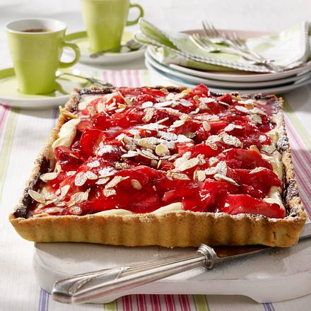 Erdbeer-Rhabarber-Tarte Rezept
