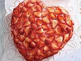 Erdbeerherz zum Muttertag Rezept
