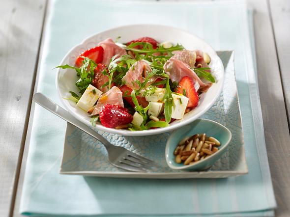 Erdbeersalat mit Parmaschinken Rezept