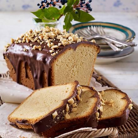 Erdnuss-Kastenkuchen mit Schokoguss Rezept