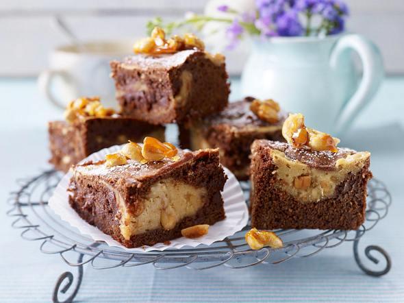 Erdnussbutter-Schoko-Brownies Rezept
