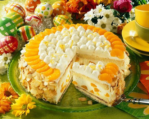 Erfrischende Zitronen-Mandarinen-Torte Rezept