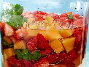 Erfrischendes Wasser: Erdbeer-Basilikum Rezept