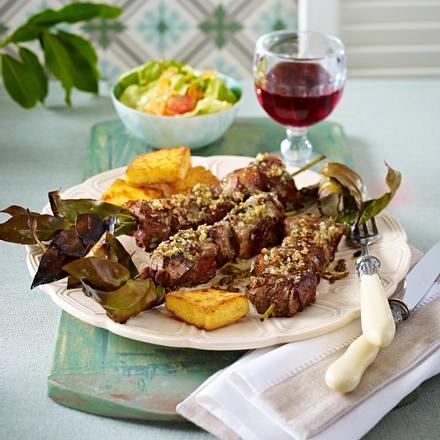 Espetada a madeirense (Hirtenspieß nach Madeira-Art) Rezept