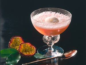 Exotic-Sekt mit Zitronensorbet Rezept