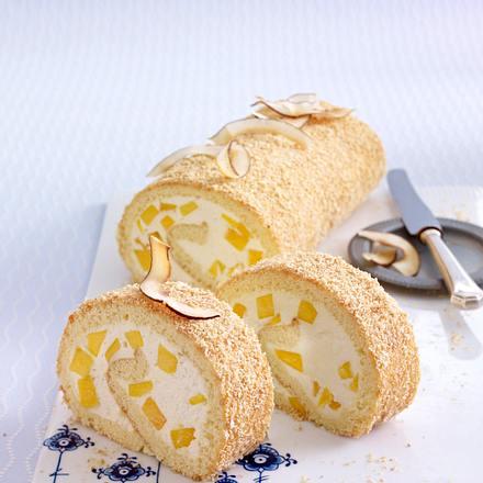 Exotische Mango-Kokosrolle Rezept