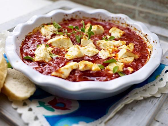 Expressauflauf mit Feta und Tomaten Rezept