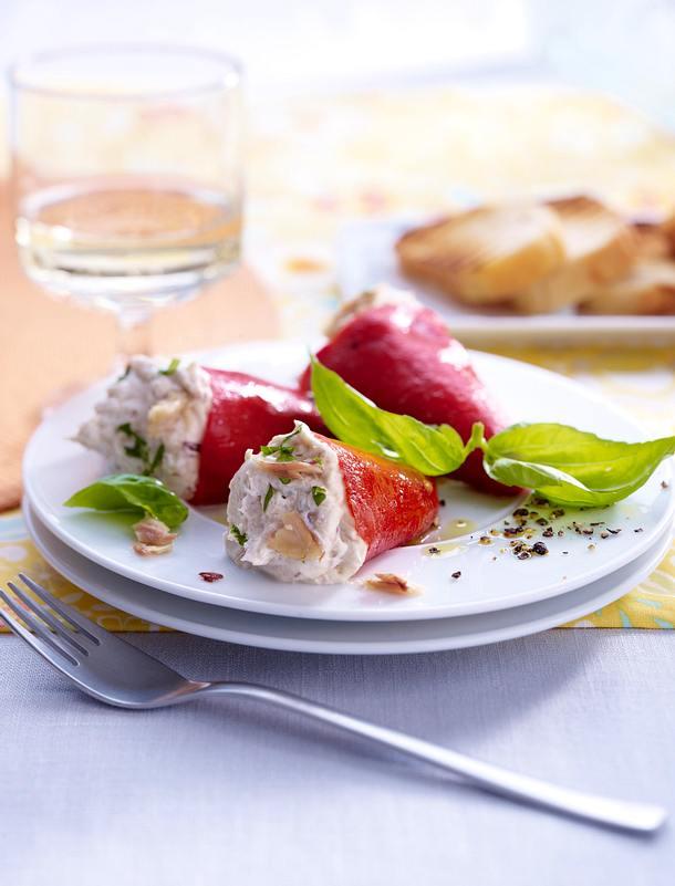 Piquillos à la crème de sardine Rezept