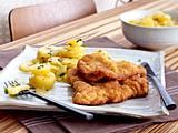 Kopie. Wiener Schnitzel zu Kartoffelsalat Rezept