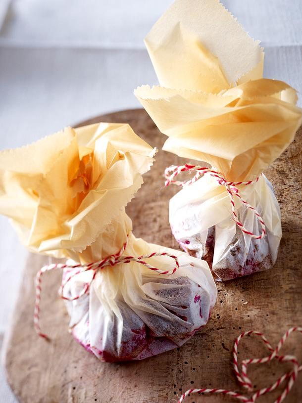 Rote-Bete-Päckchen mit Schnitzelchen Rezept