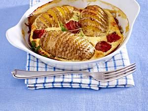 Fächerkartoffeln mit Parmesan-Quarkguss Rezept