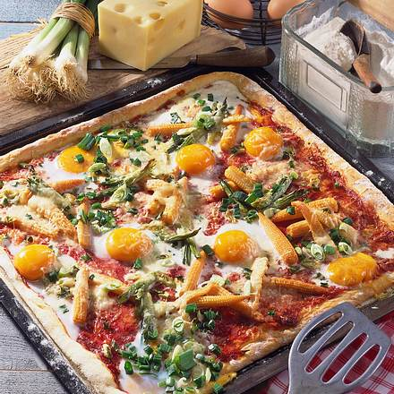 Farmer Pizza Rezept