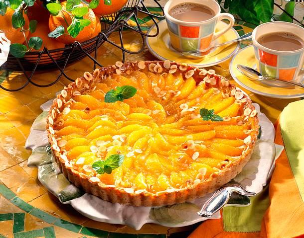 Feine Orangentarte mit Haselnuss Rezept