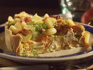 Feiner Gemüsekuchen mit Hähnchenfilet Rezept
