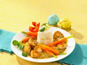 Feines Geflügelragout mit Ingwer-Reis Rezept