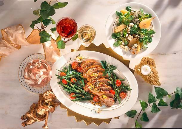 Feldsalat mit Blauschimmelkäse Rezept