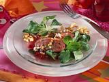 Feldsalat mit Entenbruststreifen Rezept