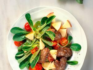 Feldsalat mit Geflügelleber Rezept