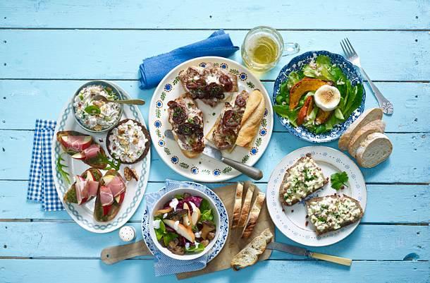 Feldsalat mit Ofenkürbis und Ziegenkäse Rezept