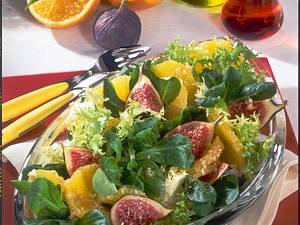 Feldsalat mit Orangen und Feigen Rezept