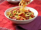 Fenchel-Spaghetti mit Tomatensoße Rezept