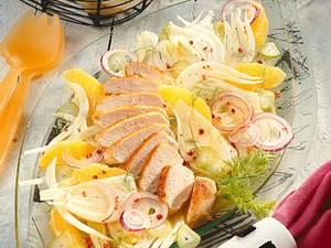 Fenchelsalat mit Hähnchen Rezept