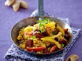 Feurige Chorizo-Reis-Pfanne (Glücks-Essen) Rezept