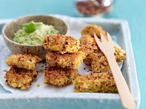 Feurige Hähnchen-Nuggets mit Guacamole Rezept