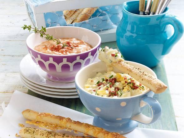 Feurige Landrahm-Salsa zu Brotstreifen Rezept