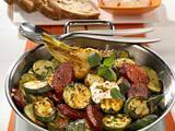 Feurige Zucchini-Pfanne mit Cabanossi Rezept