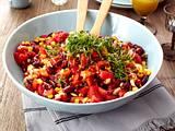 Feuriger Bohnen-Mais-Salat Rezept