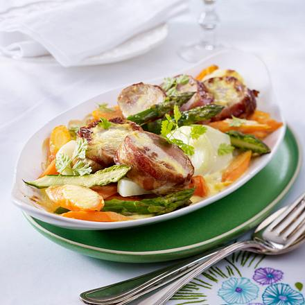 Filet-Gemüse-Gratin Rezept