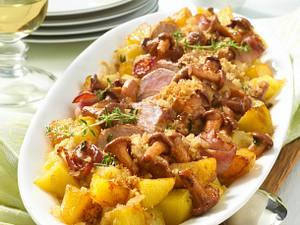 Filet-Gratin mit Pfifferlingsrahm Rezept