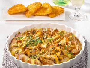 Filet-Gratin mit Sahne-Pilzen Rezept