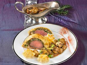 Filet Wellington mit Rahmchampignons Rezept
