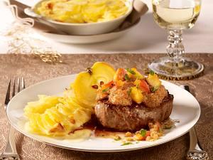 Filetsteaks mit Bratapfelkruste Rezept