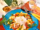 Fisch-Curry mit Reis Rezept