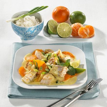 Fisch-Früchte-Curry Rezept