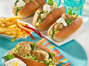 Fischburger mit Gurkensalsa Rezept