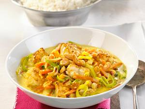 Fischcurry mit Cashewkernen Rezept