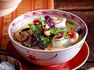 Fischcurry mit Reis Rezept