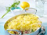 Fischragout in Senfsoße und Kartoffelkruste Rezept