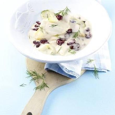 Fischragout mit Gurke und Cranberries Rezept