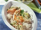 Fischstücke mit Apfel-Gurken-Salsa Rezept