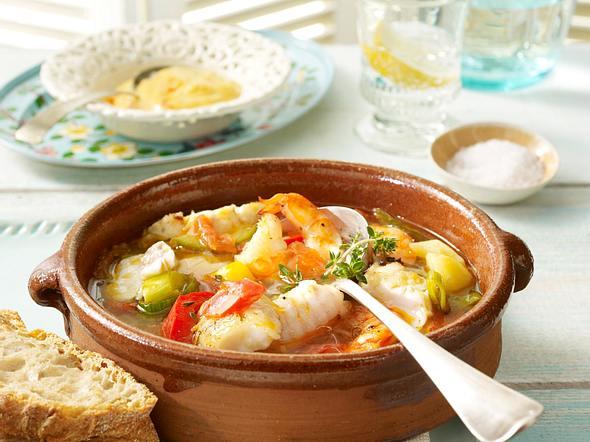 Fischtopf mit Aioli und Paprika Rezept